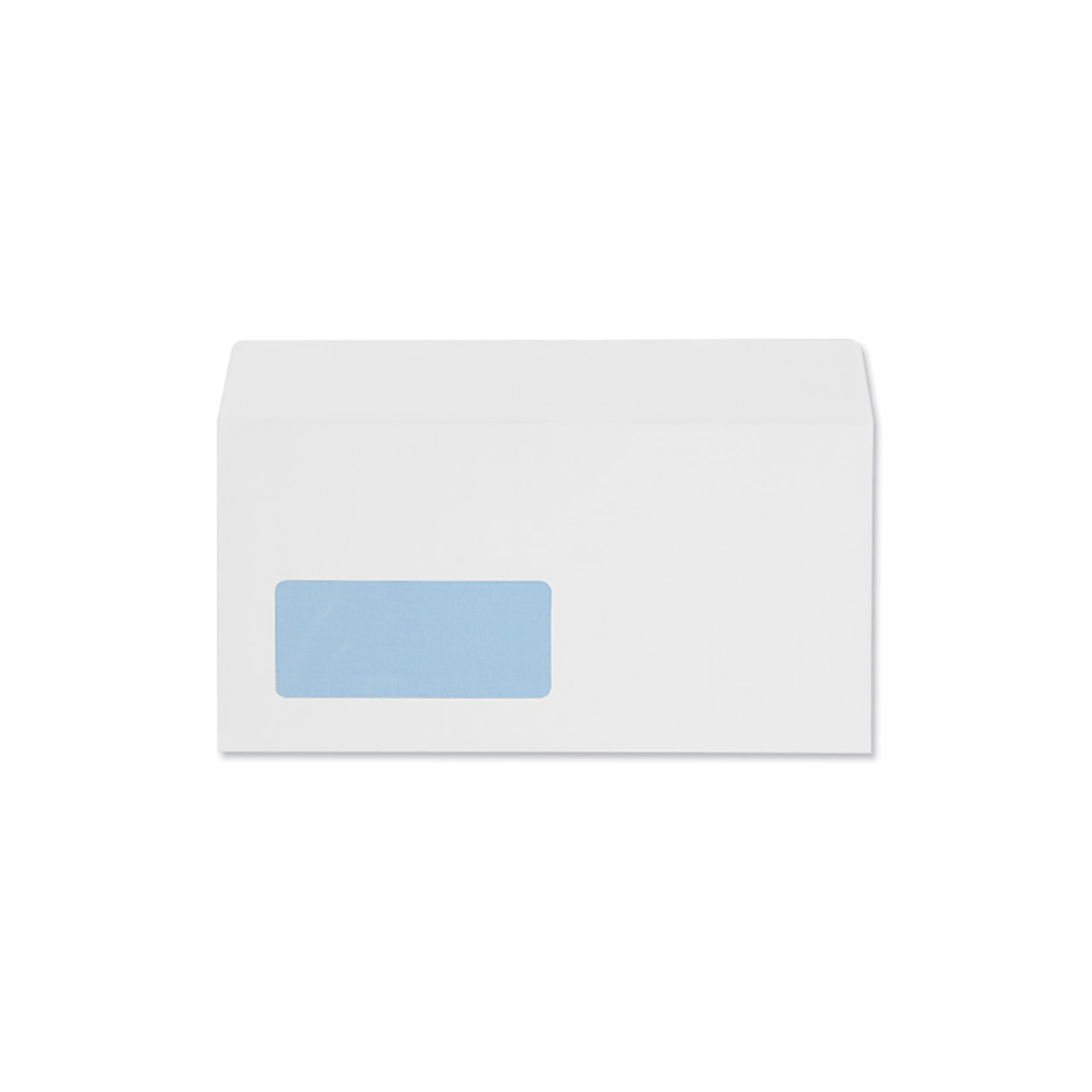 Business Envelopes Wallet Peel and Seal Window 100gsm White DL [Pack 500]