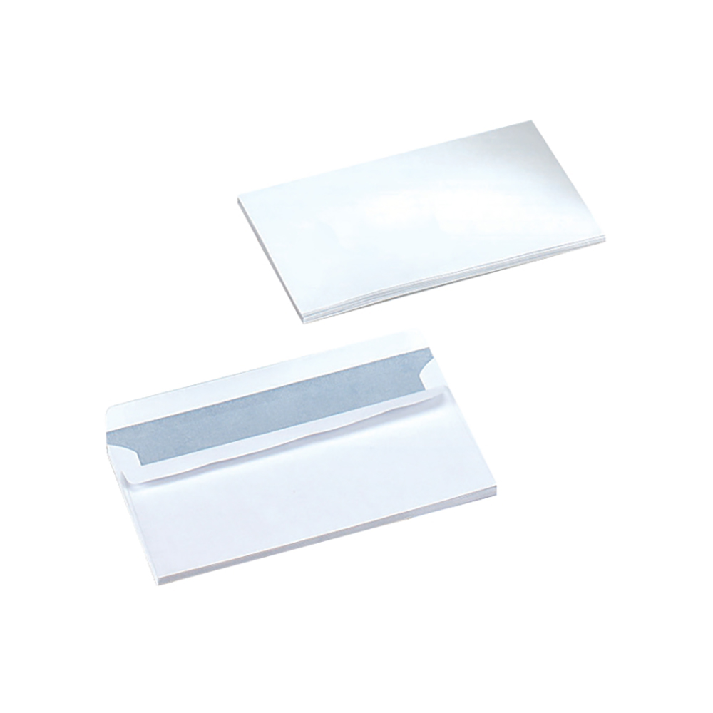 Business Envelopes Wallet Self Seal 80gsm White DL [Pack 1000]