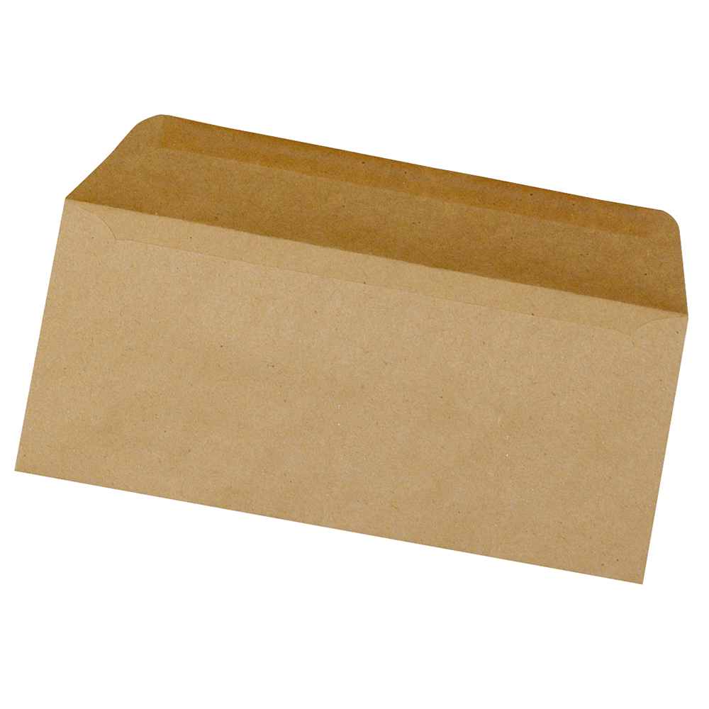Business Envelopes Recycled Lightweight Wallet Gummed 75gsm Manilla DL [Pack 1000]