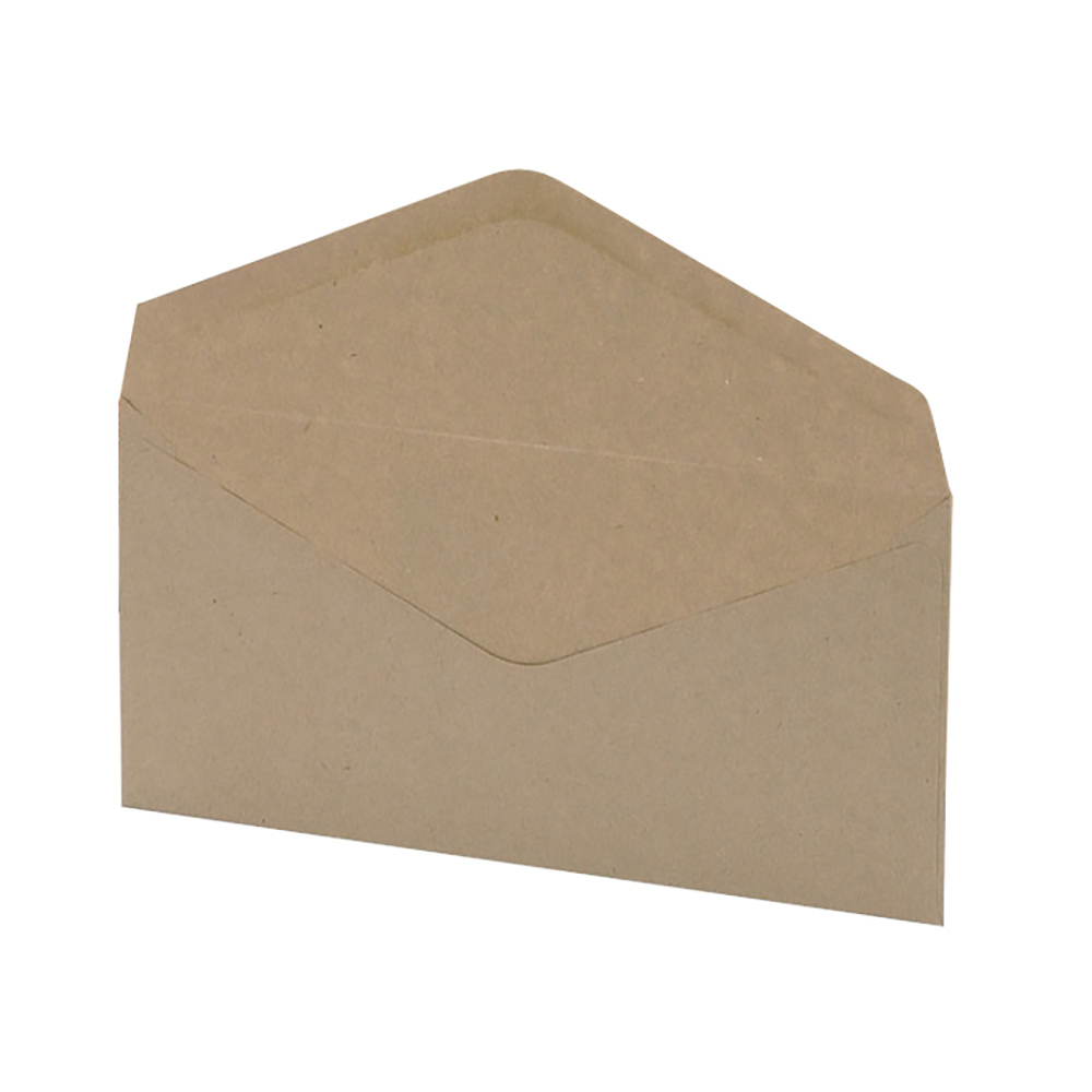 Business Envelopes Recycled Lightweight Wallet Gummed Window 75gsm Manilla DL [Pack 1000]