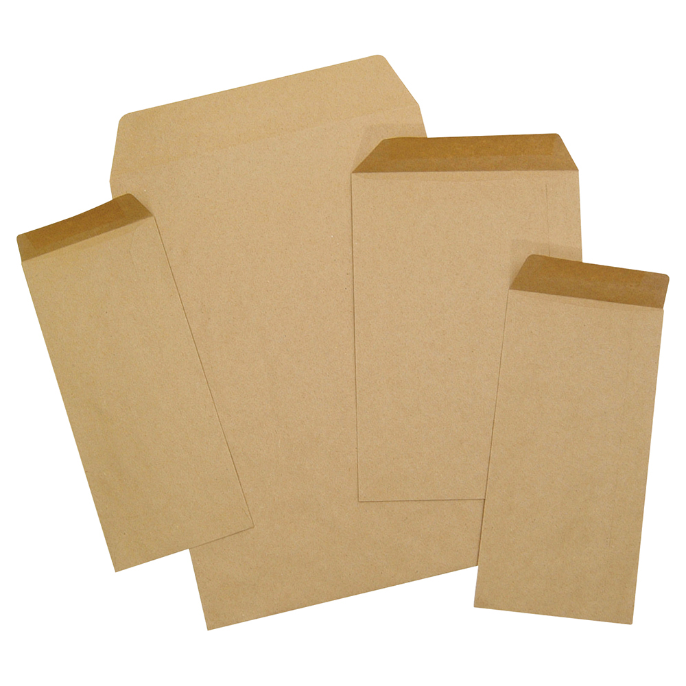 Business Envelopes Recycled Lightweight Pocket Gummed 80gsm Manilla DL [Pack 1000]
