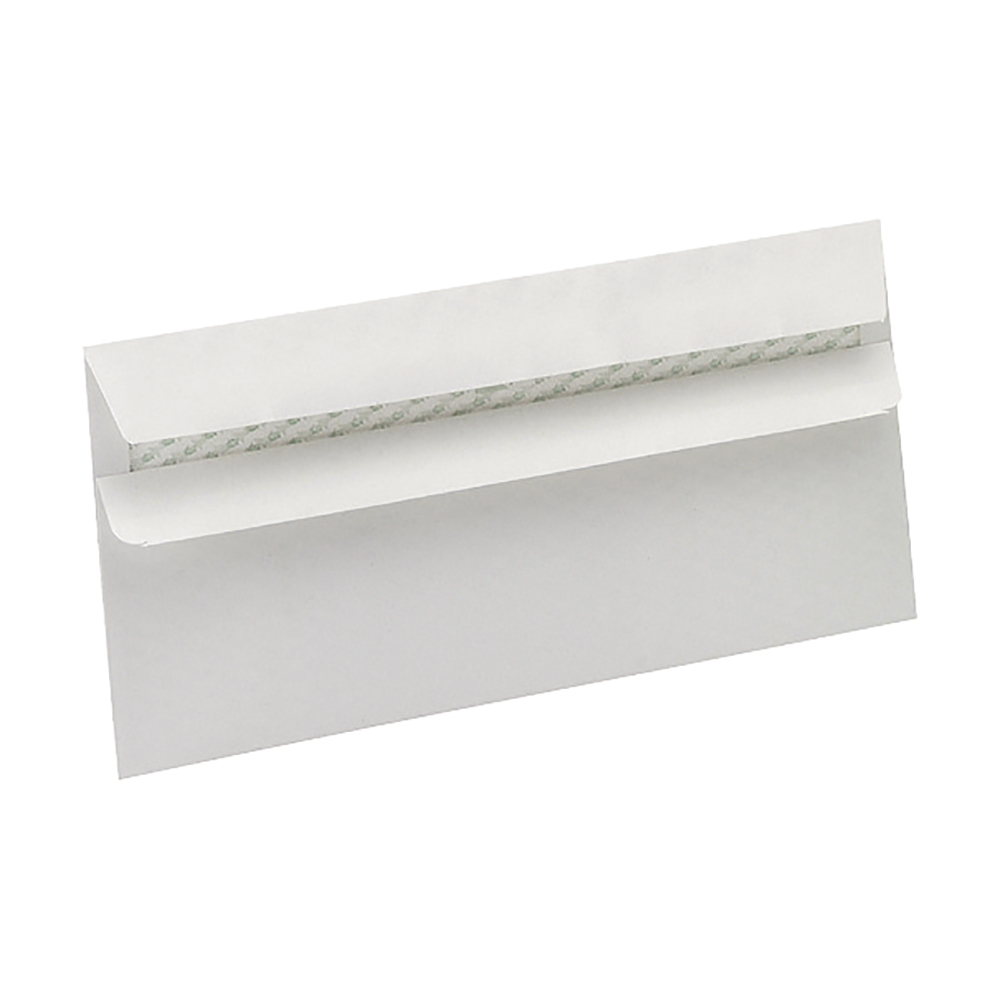 Business Eco Envelopes Recycled Wallet Self Seal 90gsm White DL [Pack 500]