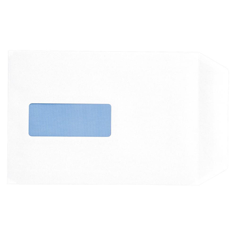 Business Envelopes Pocket Peel and Seal Window 100gsm White C5 [Pack 500]