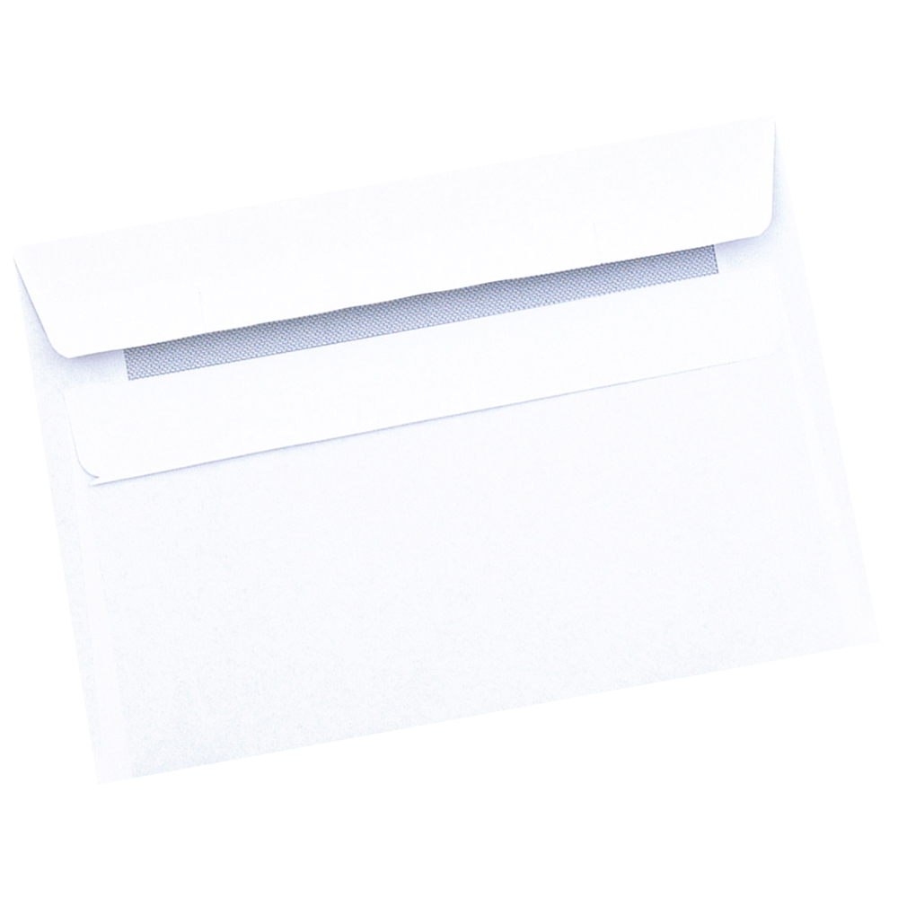 Business Envelopes Recycled Wallet Self Seal 80gsm White C6 [Pack 1000]