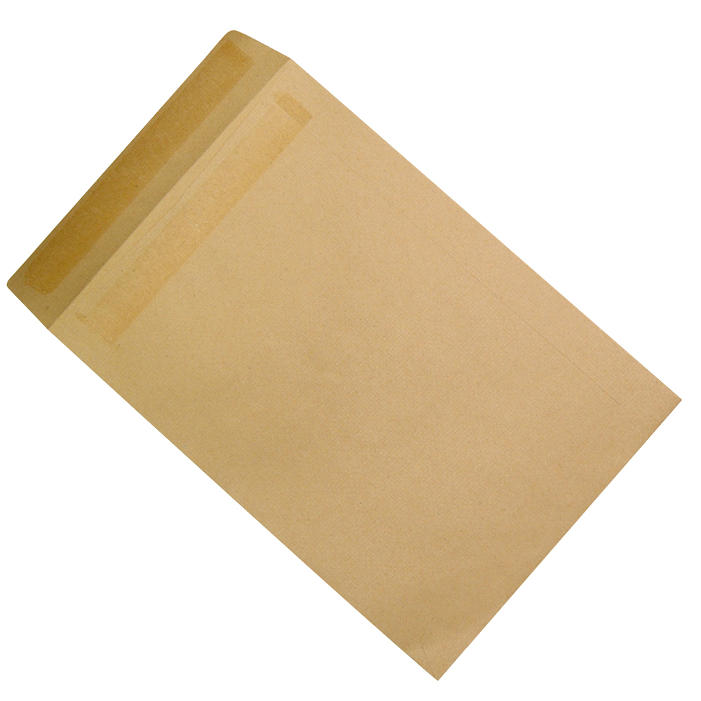 Business Envelopes Recycled Mediumweight Pocket Self Seal 90gsm Manilla 381x254mm [Pack 250]