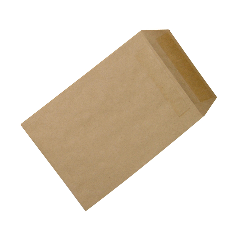 Business Envelopes Recycled Lightweight Pocket Self Seal 90gsm Manilla 254x178mm [Pack 500]