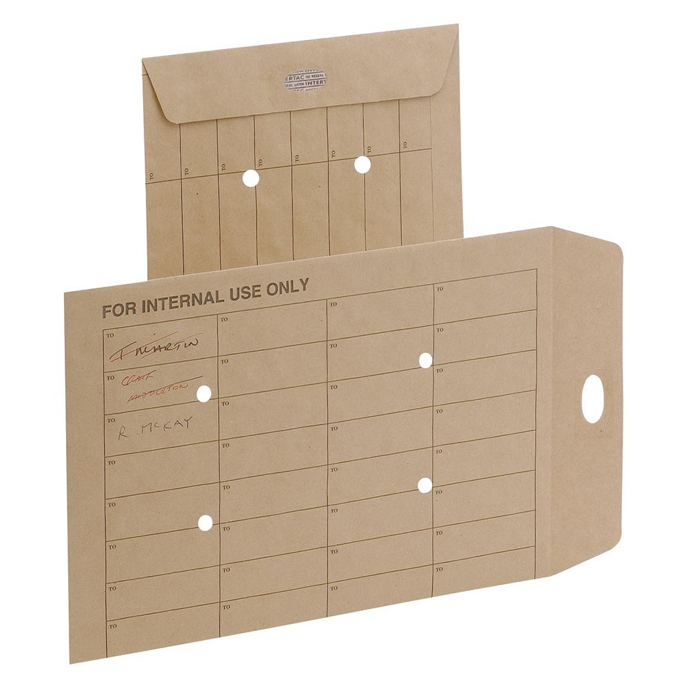 Business Internal Mail Envelopes Pocket Resealable 120gsm Orange C4 [Pack 250]