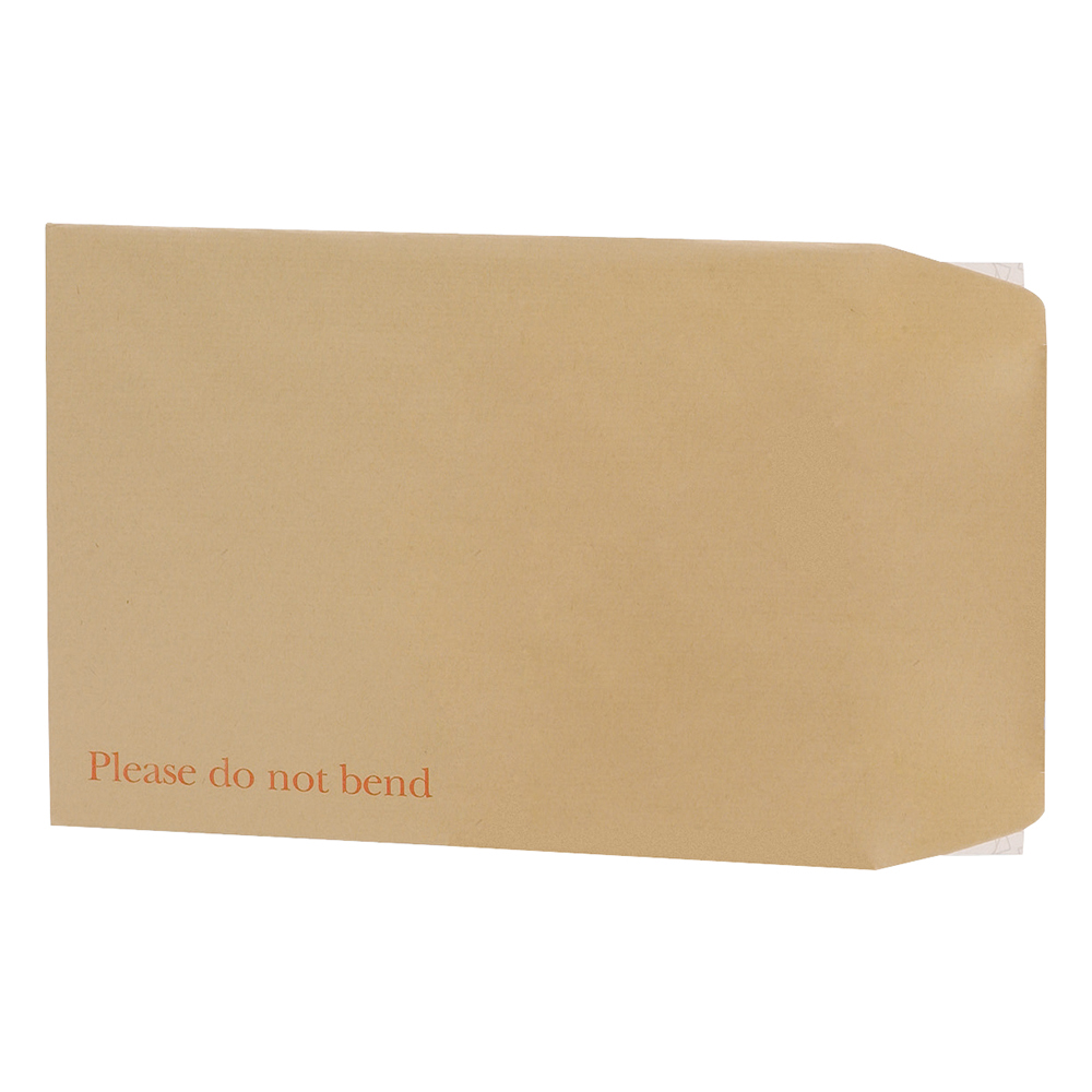 Business Envelopes Recycled Board-backed Hot Melt Peel and Seal 120gsm Manilla 444x368mm [Pack 50]