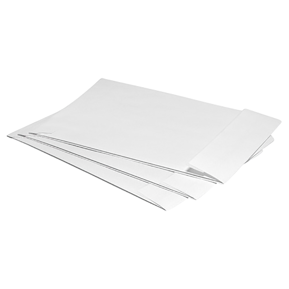 Business Envelopes Gusset 25mm Peel and Seal Window 120gsm White C4 [Pack 125]