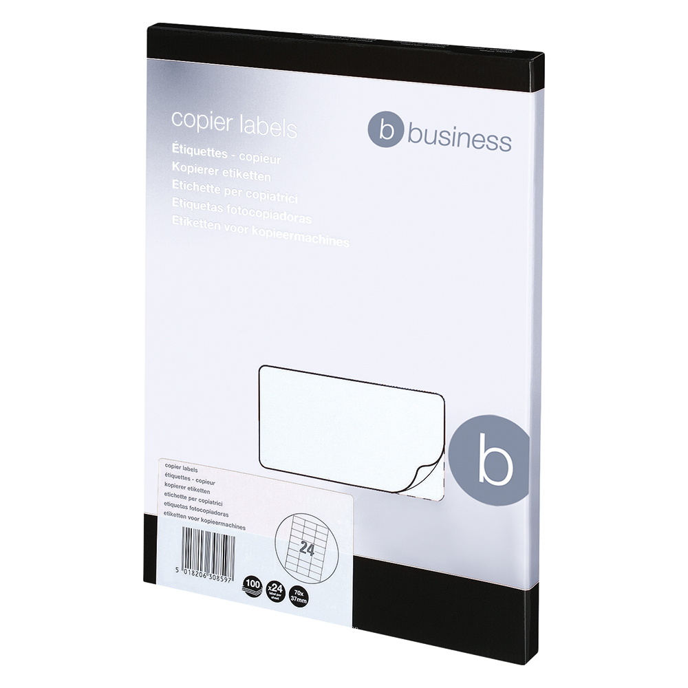 Business Multipurpose Labels Laser 24 per Sheet 70x37mm White [2400 Labels]