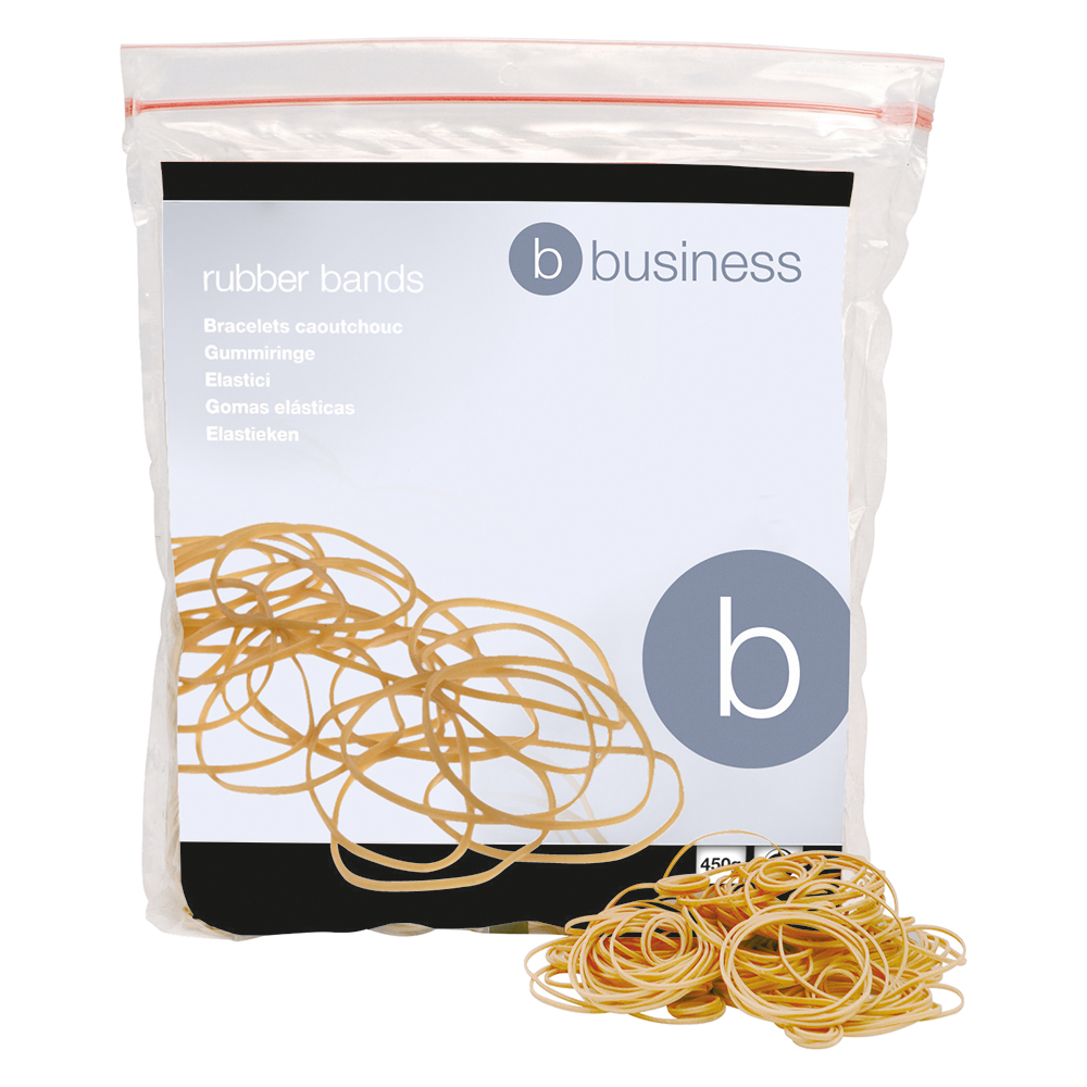 Business Rubber Bands No.16 Each 63x1.5mm Approx 2000 Bands [Bag 0.454kg]