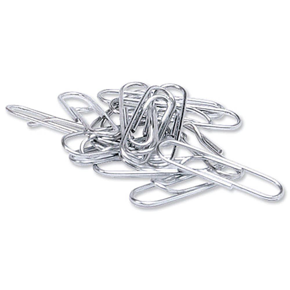 Business Paperclips Metal Large Lipped 33mm Lipped [Pack 1000]