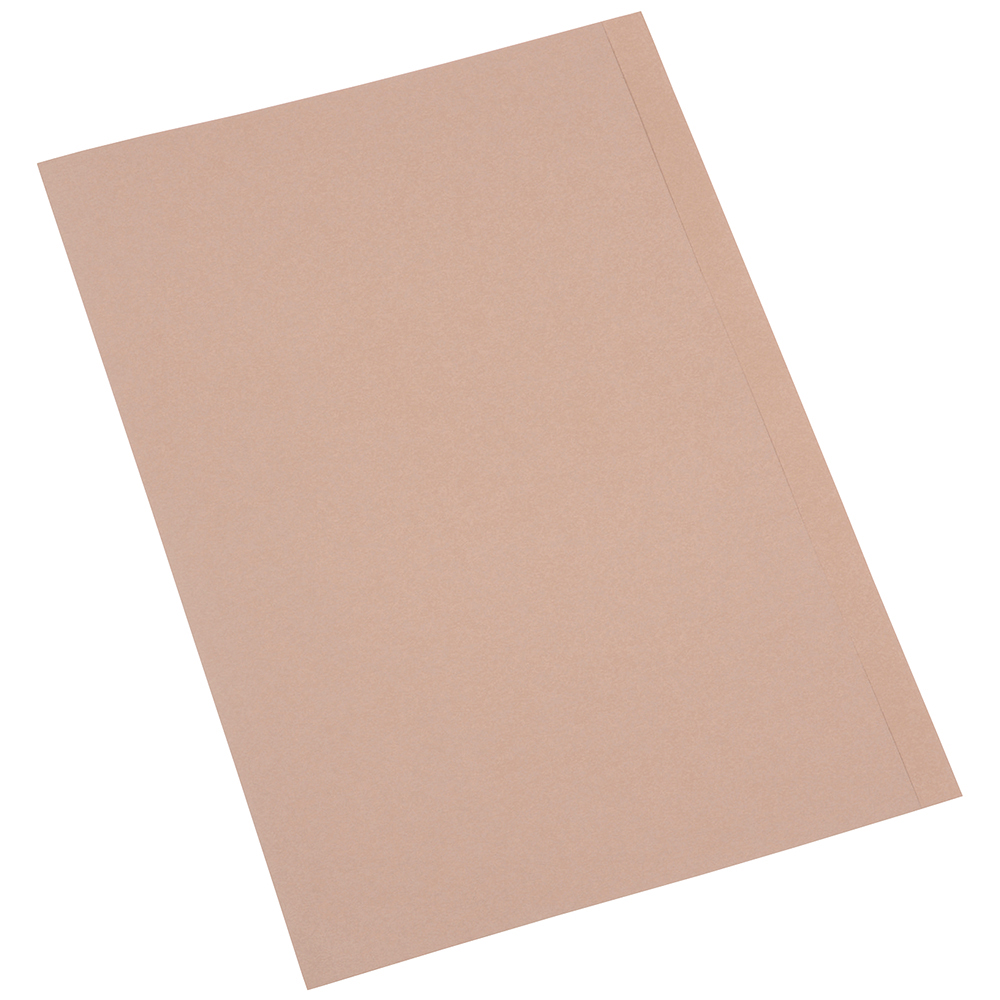 Business Eco Square Cut Folders 170gsm Foolscap Recycled Kraft [Pack 100]