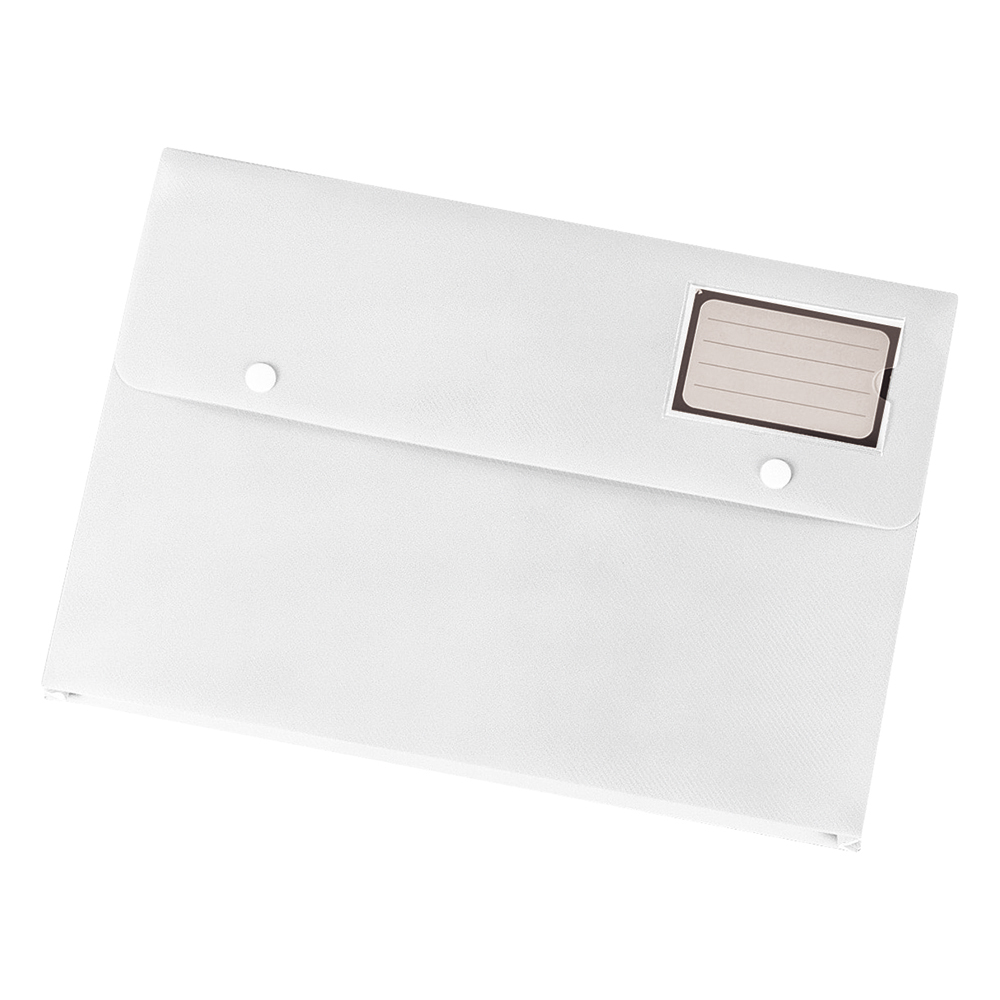 Business Document Wallet with Card Holder Polypropylene A4 White [Pack 3]