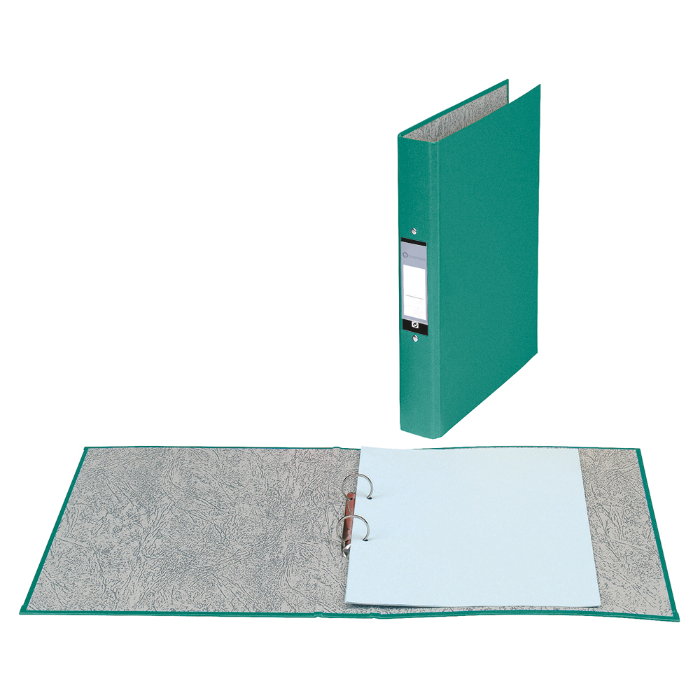 Business Ring Binders 2 O-Ring Size 25mm A4 Green [Pack 10]
