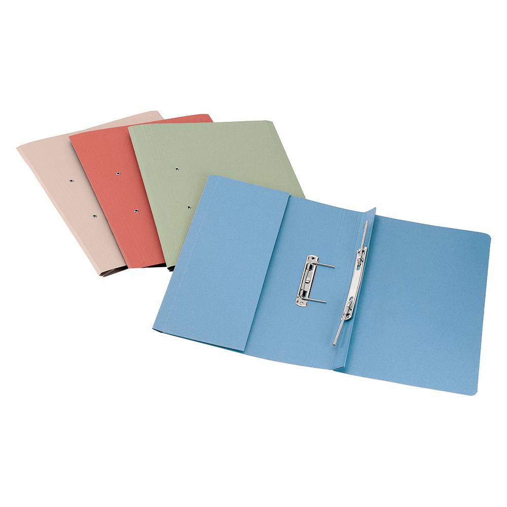 Business Premium Transfer Spring Pocket File Super Heavyweight 380gsm Foolscap Blue [Pack 25]