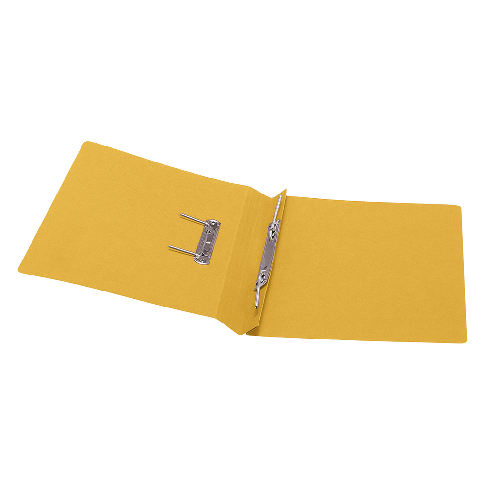 Business Transfer Spring File Recycled 285gsm Capacity 38mm Foolscap Yellow [Pack 50]