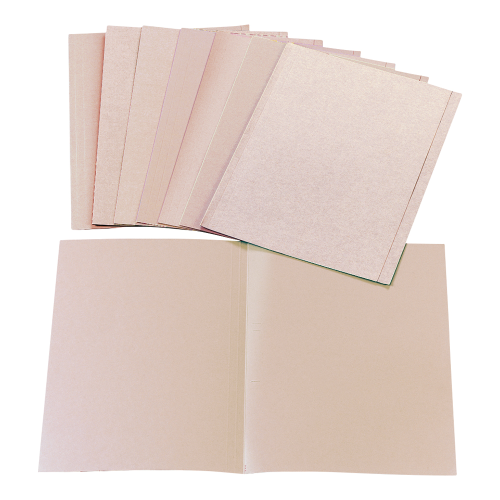 Business Square Cut Folder Recycled Pre-punched 170gsm Kraft Foolscap Buff [Pack 100]