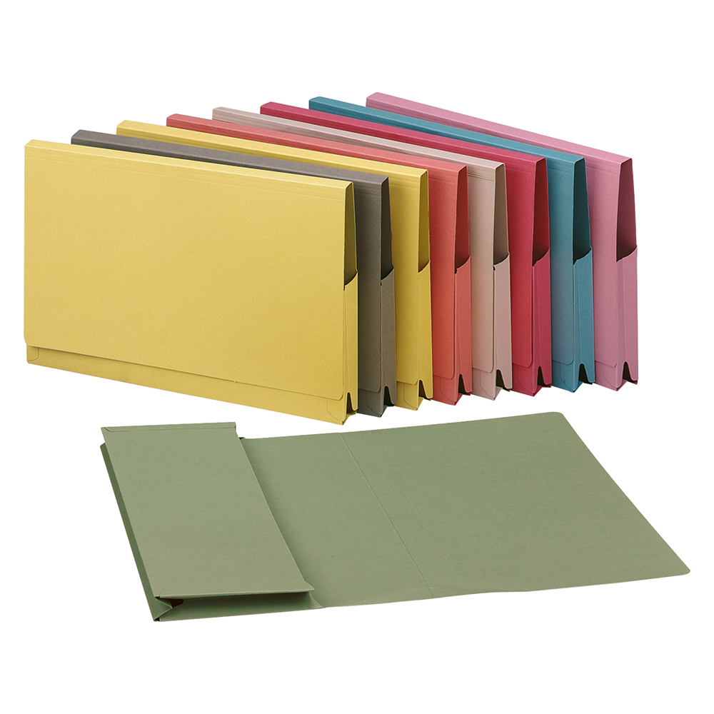 5 Star Elite Document Wallet Full Flap 315gsm Capacity 35mm Foolscap Pink [Pack 50]