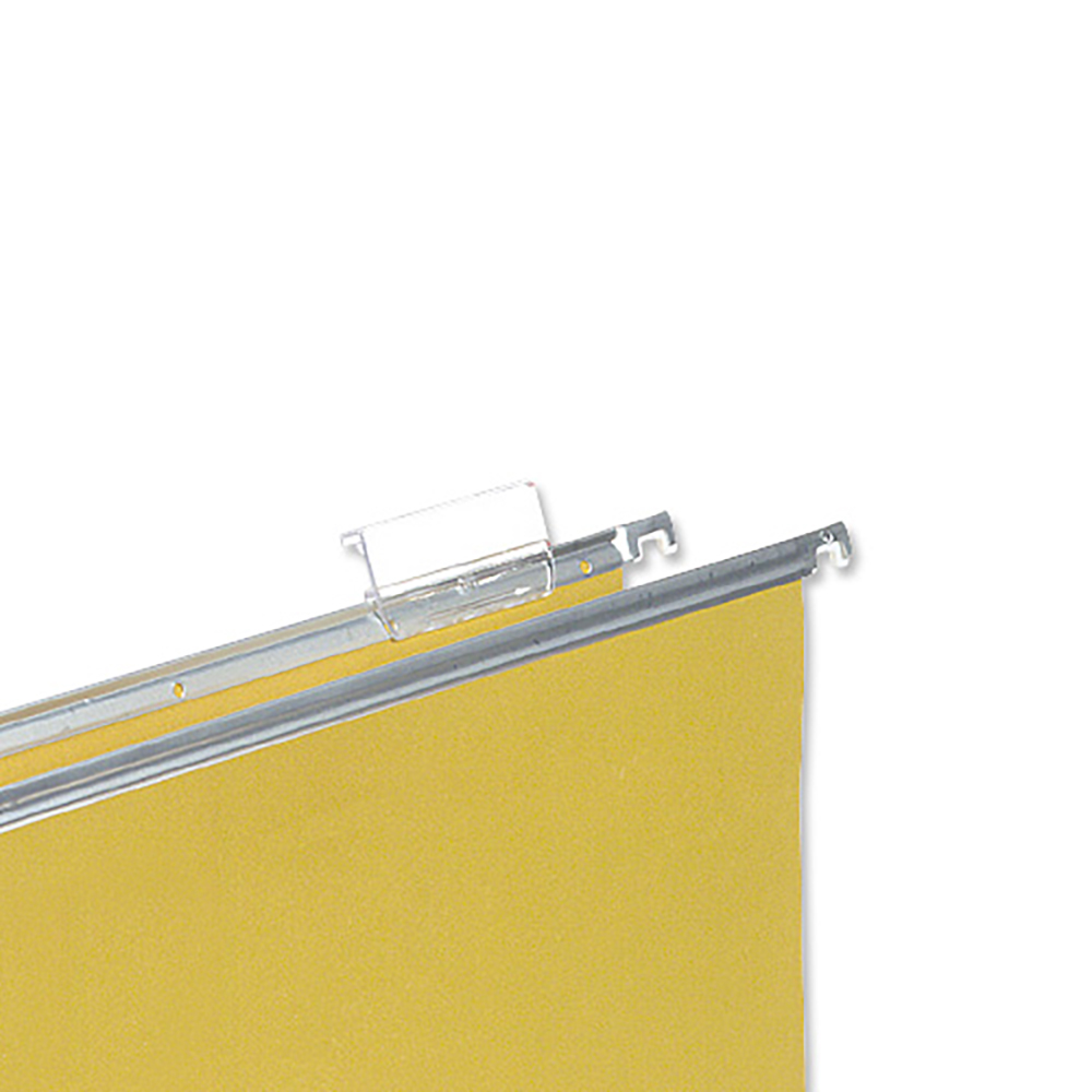Business Tabs Plastic for Clenched Bar Suspension File Clear [Pack 50]