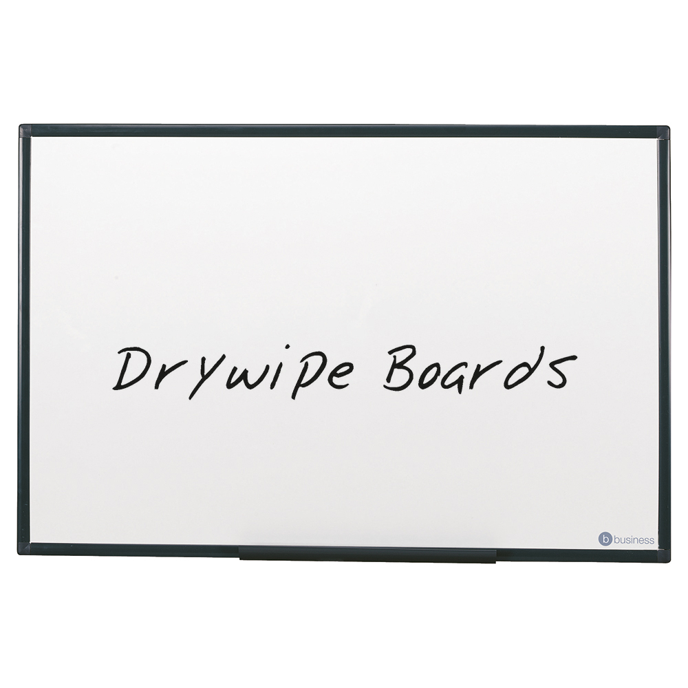 Business Drywipe Board Lightweight with Fixing Kit and Detachable Pen Tray W900xH600mm