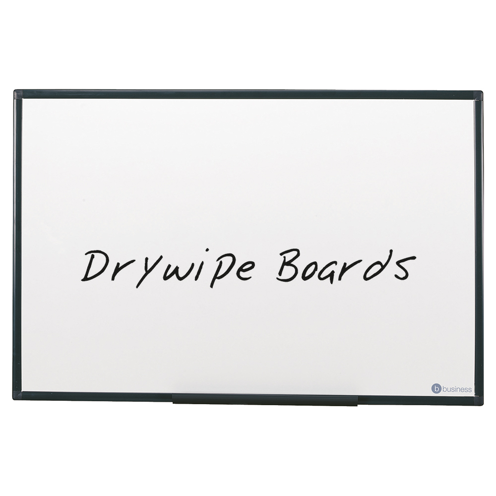 5 Star Office Drywipe Non-Magnetic Board with Fixing Kit and Detachable Pen Tray W1200xH900mm