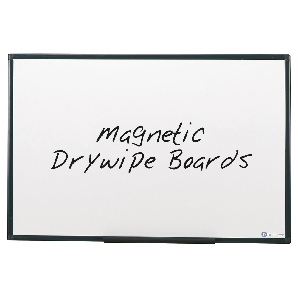 Business Drywipe Board Magnetic Lightweight with Fixing Kit and Detachable Pen Tray W1200xH900mm