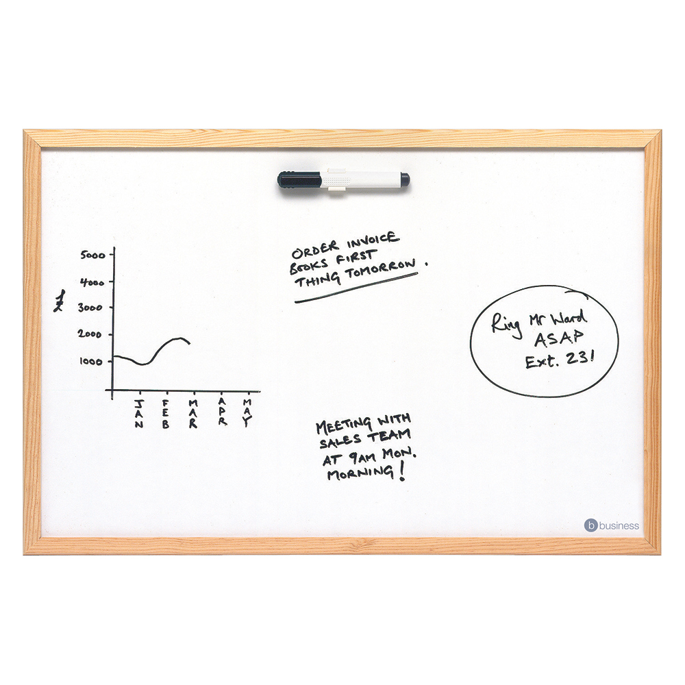 Business Value Drywipe Board Lightweight W900xH600mm