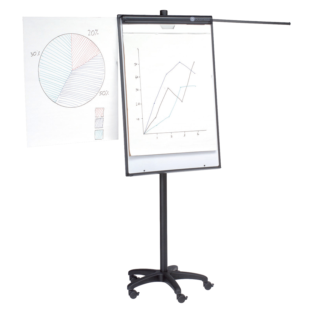 Business Mobile Executive Easel Magnetic Mobile on 5 Castors for Pads A1 and Euro