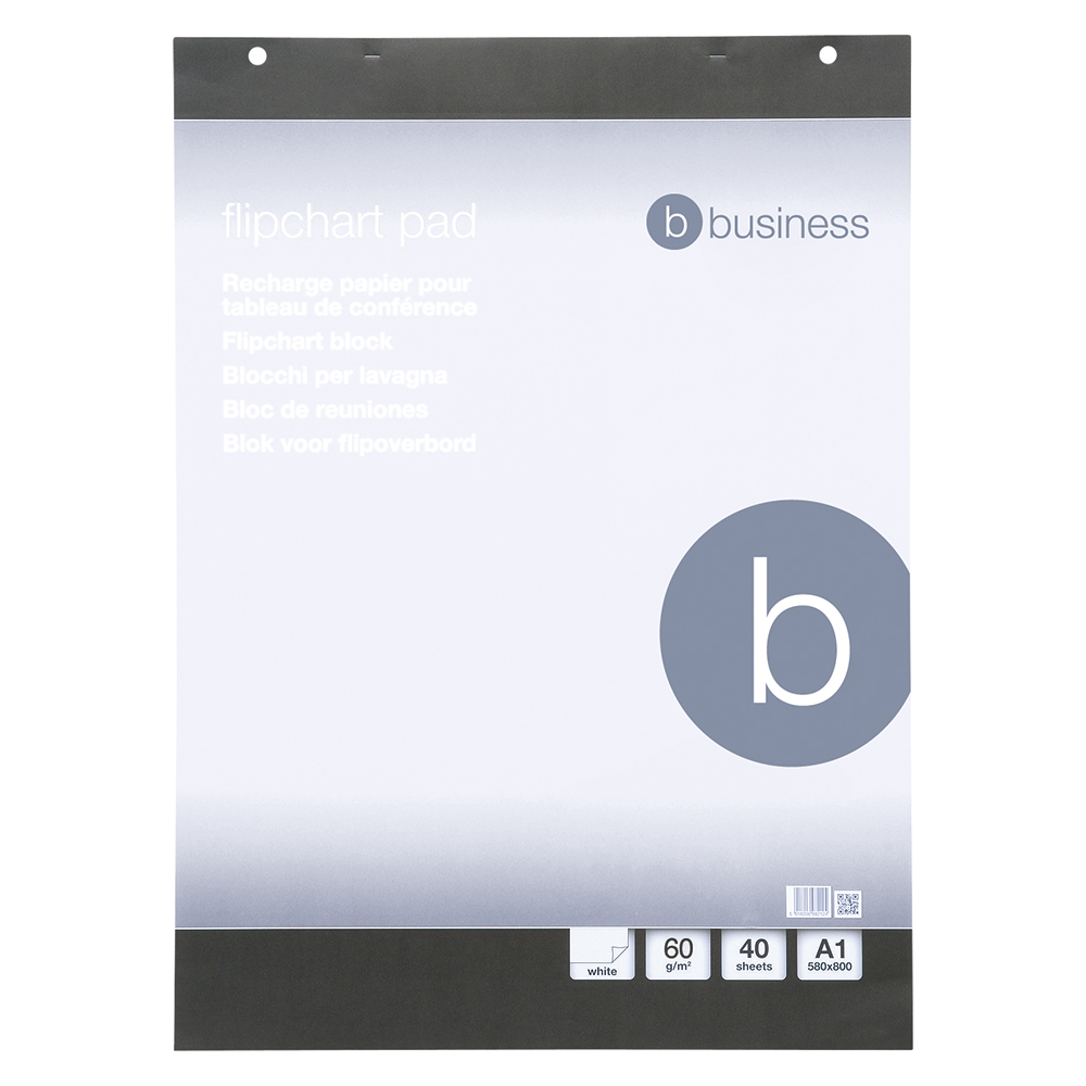 Business Flipchart Pad Perforated 40 Sheets A1 Plain [Pack 5]