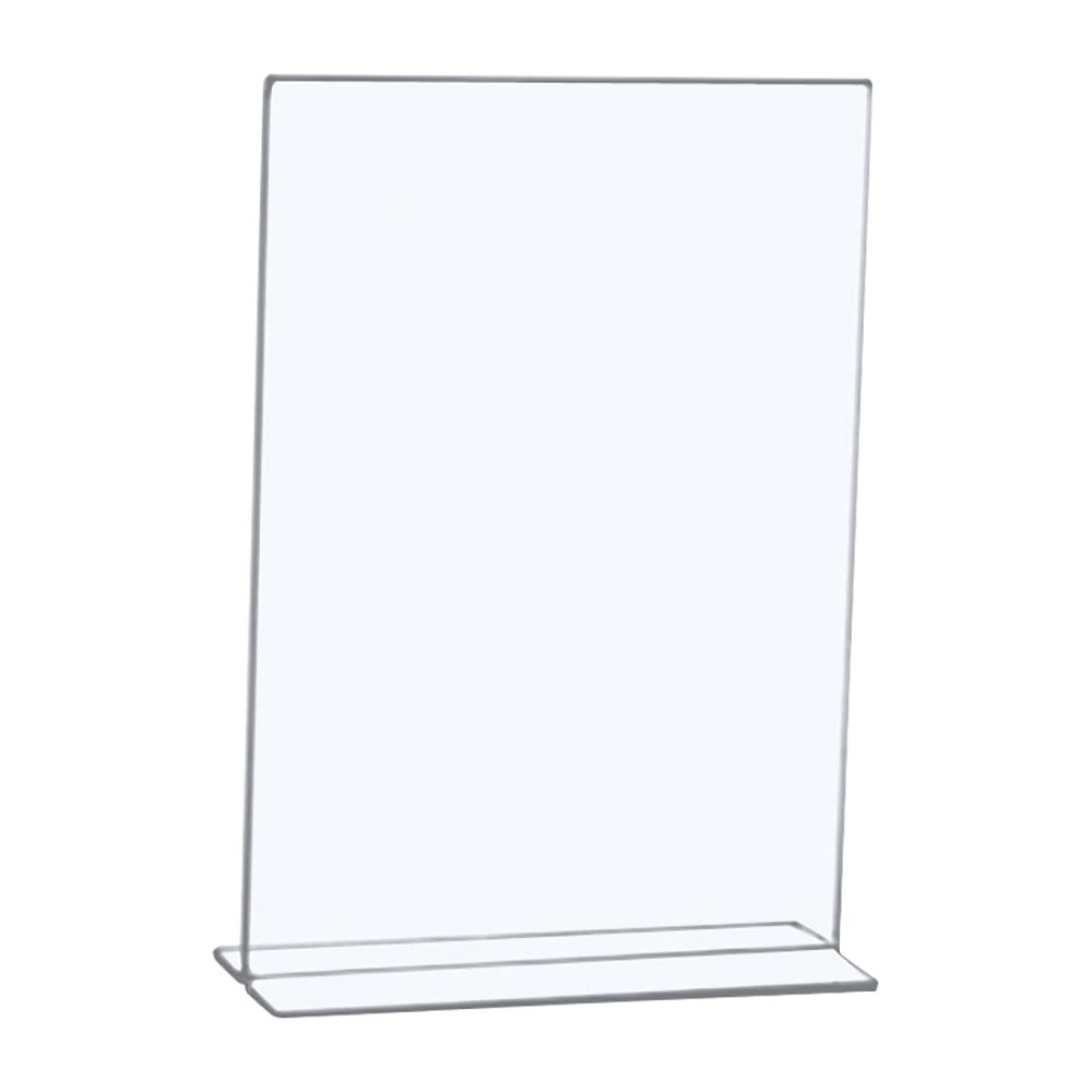 Business Sign Holder Portrait Stand Up A4 Clear