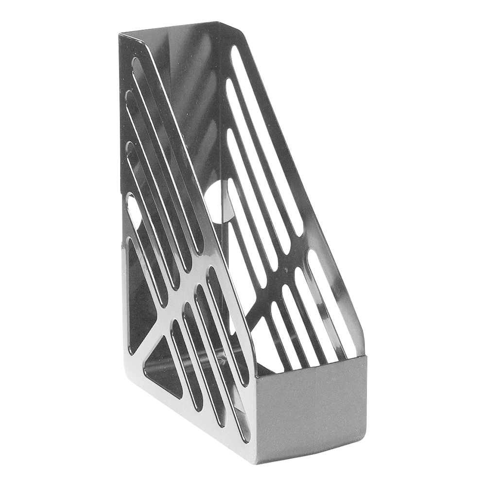 Business Magazine Rack File Foolscap Grey