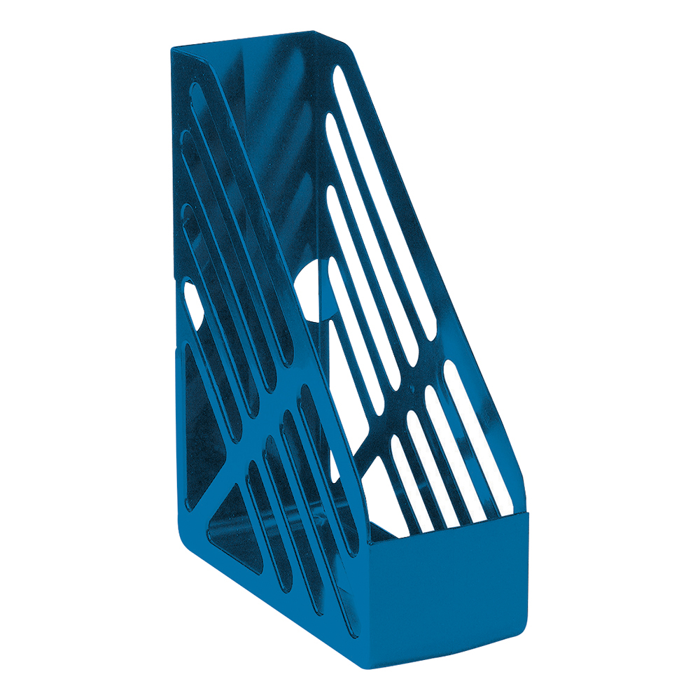 Business Magazine Rack File Foolscap Blue