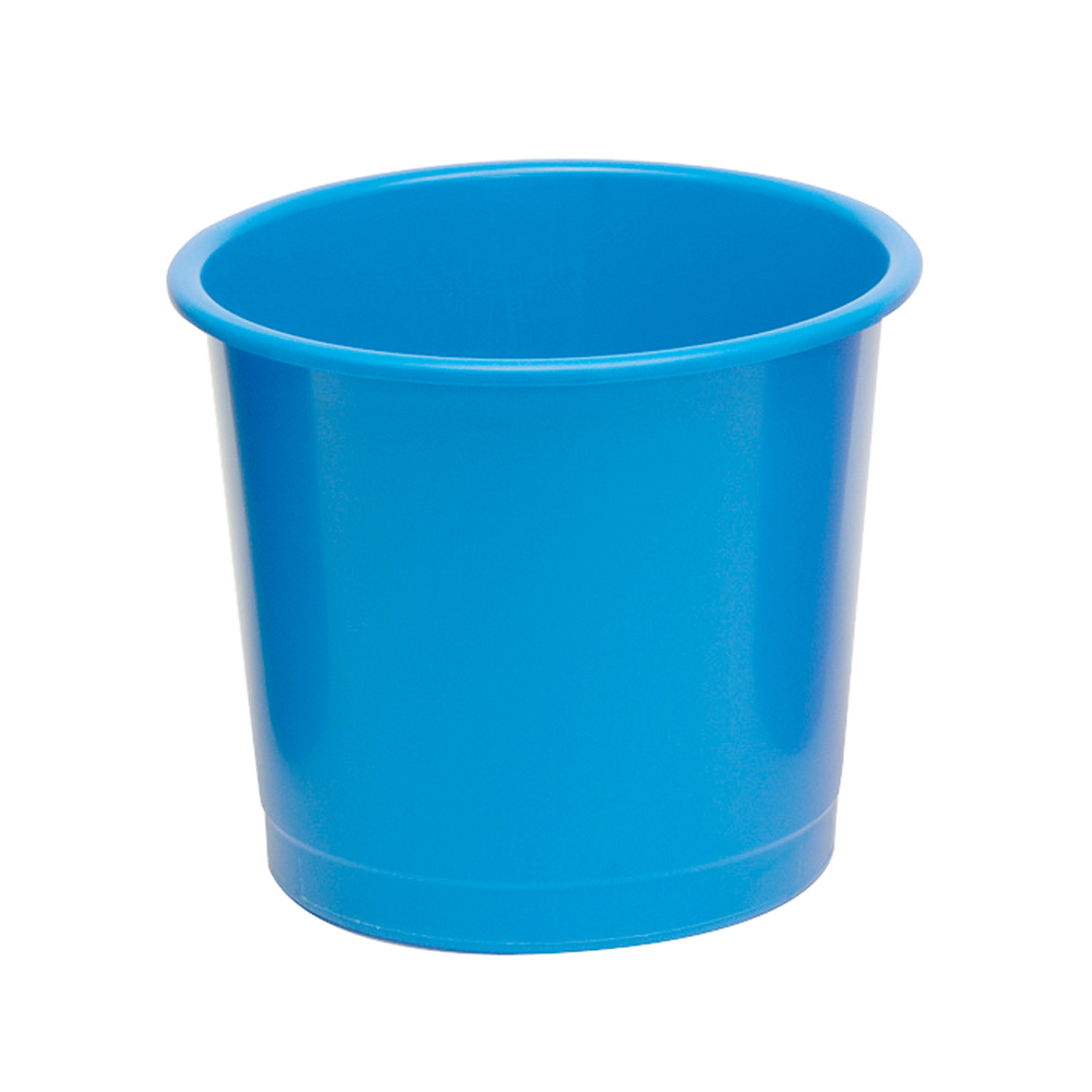 Business Waste Bin Polypropylene 14 Litres D304xH254mm Blue