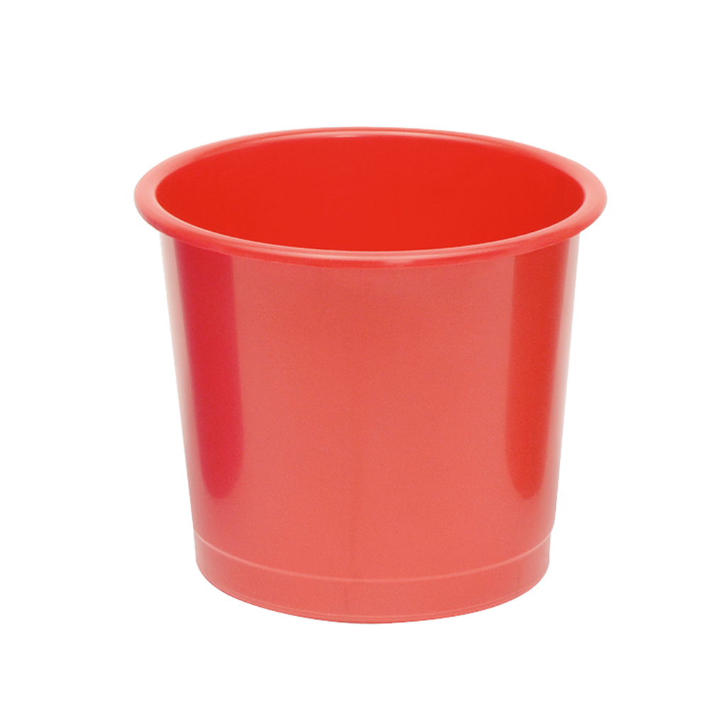 Business Waste Bin Polypropylene 14 Litres D304xH254mm Red
