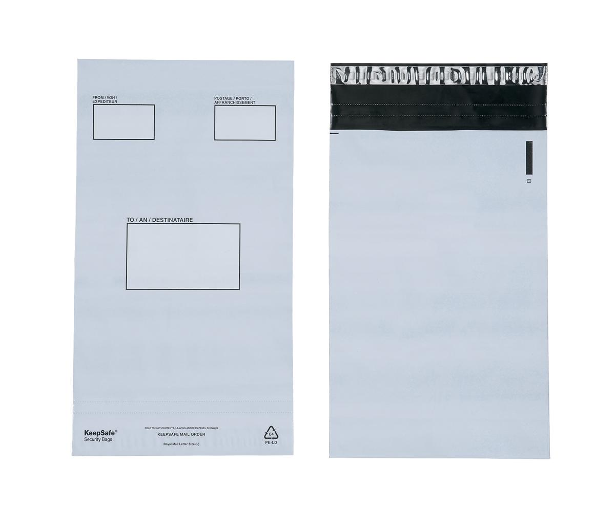 Image for Keepsafe Envelope Extra Strong Polythene Opaque C5 W165xH240mm Peel & Seal Ref KSV-MO1 [Box 100]