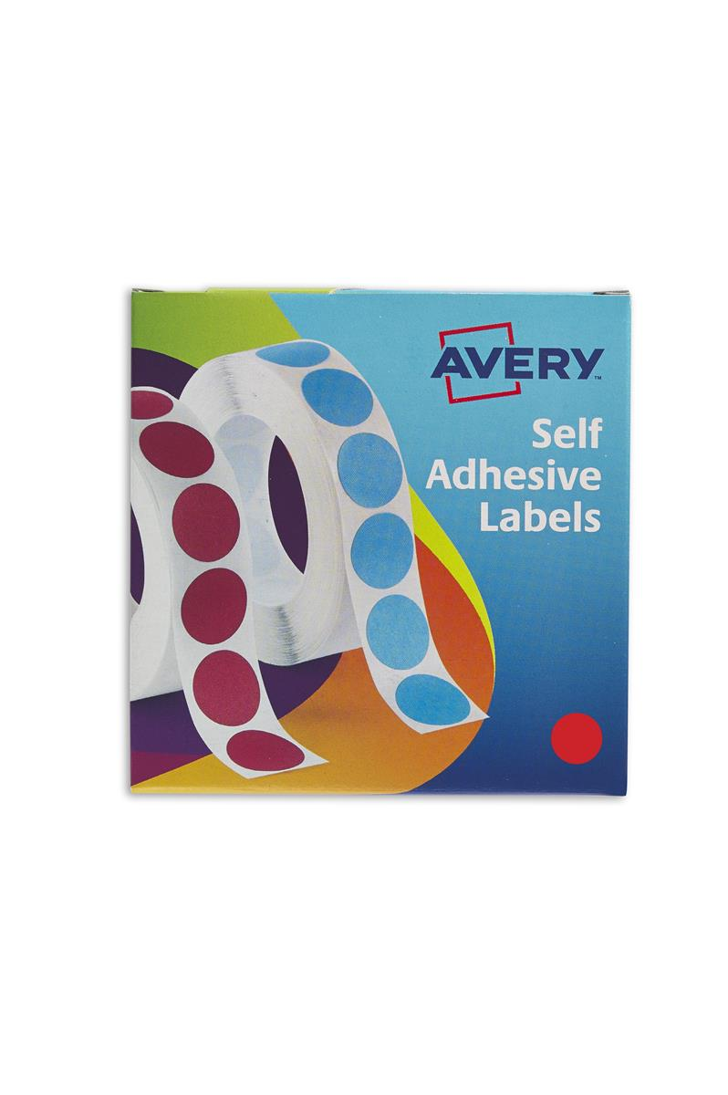 Image for Avery Label Dispenser for Diam.19mm Red Ref 24-506 [1120 Labels]