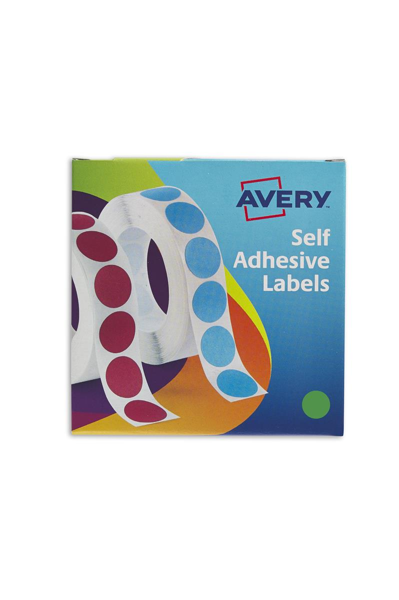 Image for Avery Label Dispenser for Diam.19mm Green Ref 24-507 [1120 Labels]