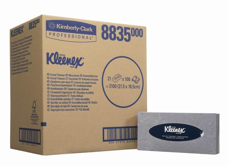 Kleenex Facial Tissues 100 Sheets Ref 8835 [21 Boxes]