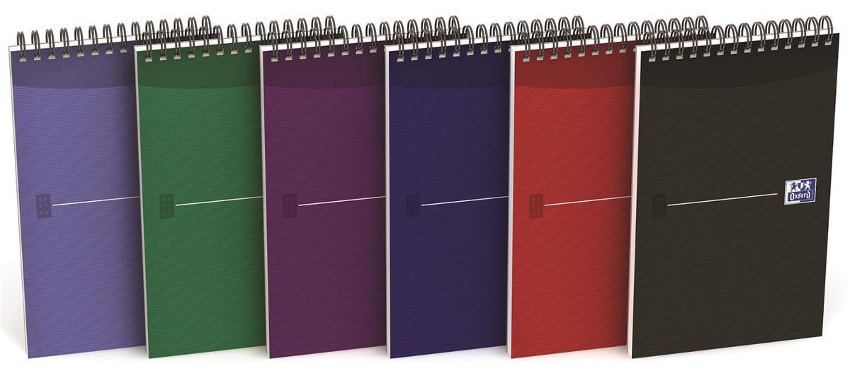 Oxford Office Reporters Notebook Polypropylene 140pp Random Metallic Colour Ref 100080497 [Pack 10]
