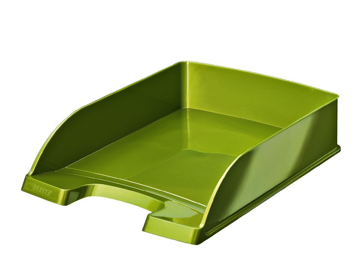 Image for Leitz Bright Letter Tray Stackable Glossy Metallic Green Ref 52263064