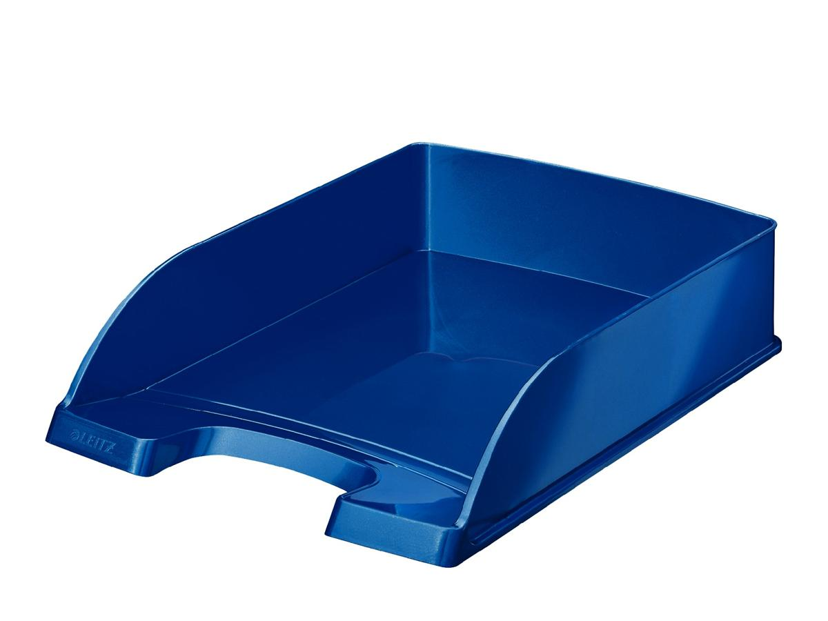 Image for Leitz Bright Letter Tray Stackable Glossy Metallic Blue Ref 52263036
