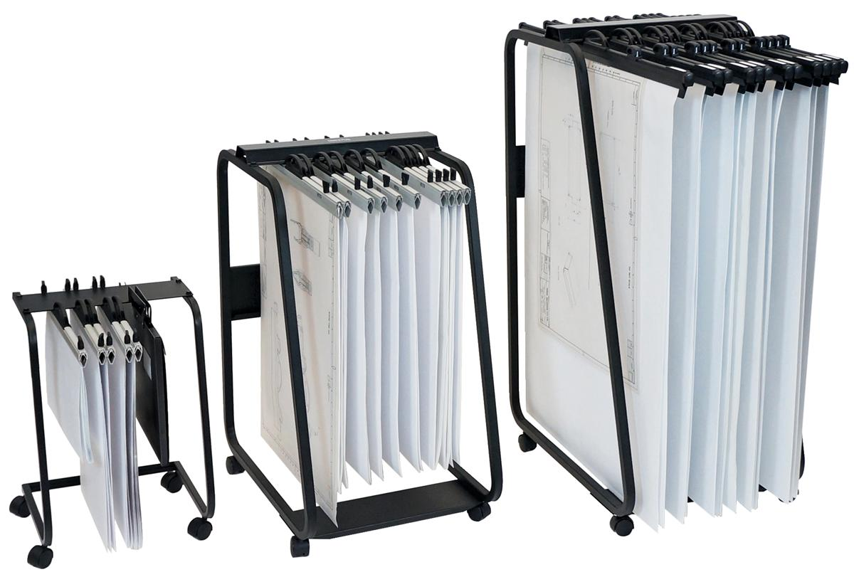 Image for Arnos Hang-A-Plan General Front Load Trolley for Approx 20 Binders A1-A2-B1 W555xD730xH990mm Ref D061