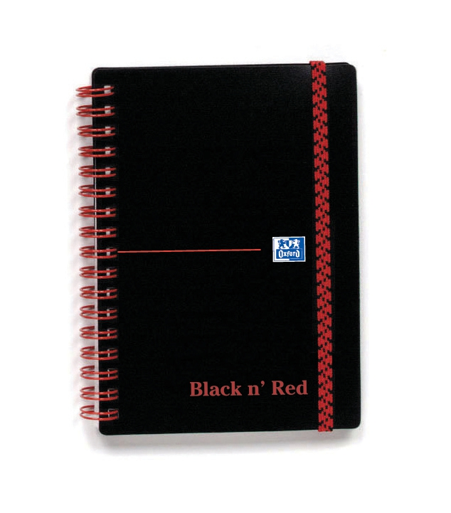 Image for Black n Red Notebook Wirebound Polypropylene 90gsm Ruled 140pp A6 Ref 100080476 [Pack 5]