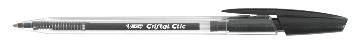Image for BIC Cristal Clic Ball Pen Retractable Medium Point 1.0mm Black Ref 850732 [Pack 20]