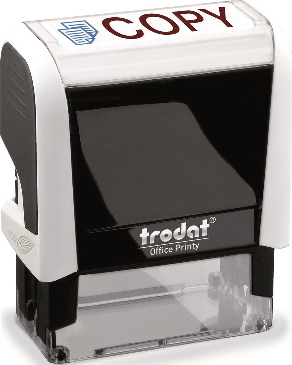 Image for Trodat Office Printy Stamp Self-inking Copy 18x46mm Reinkable Red and Blue Ref 43241