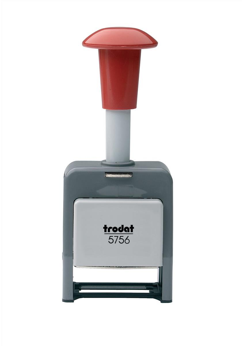Image for Trodat 5756/P Numberer Stamp Plastic Sequential Self-inking 8 Adjustments 5.5mm Digits Ref 86621