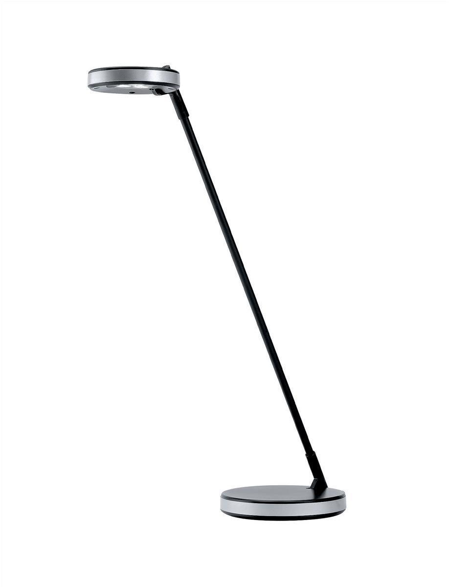 Image for Unilux Disc LED Desk Lamp Black and Metal Grey