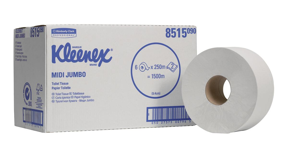 Kleenex Ultra Jumbo Toilet Tissue 625 Sheet Rolls 2-Ply 400x94mm White Ref 8515 [Pack 6]