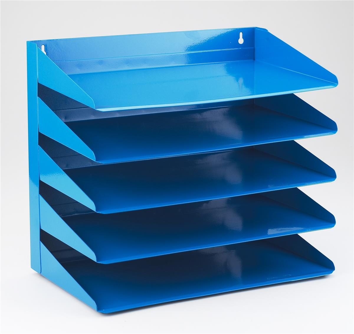 Image for Avery Letter Rack 5-Tier Steel W380xD230xH335mm Blue Ref 605SBLUE